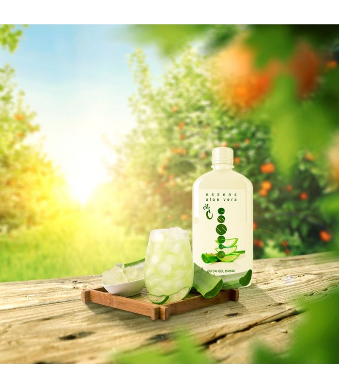 Aloe Vera 99,5 % Gel Drink - Vitamin C - 500 ml - Essens aus der Tschechei